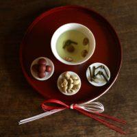 お茶の時間で繕いを1月「年の初めは願いをこめて大福茶」